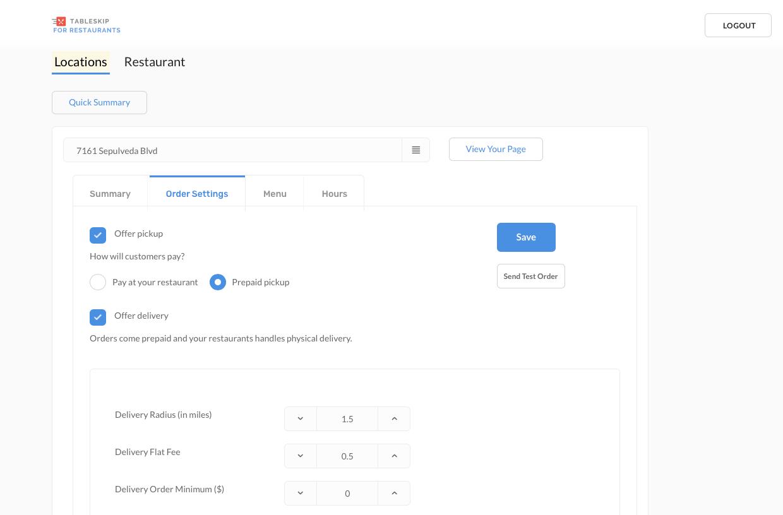 TableSkip Dashboard